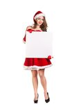 Sexy young Santa Claus woman Royalty Free Stock Images