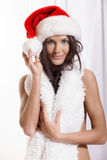 Sexy young Santa Girl Stock Images