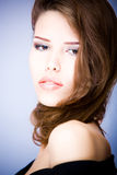 Sexy young woman. With hair over her neck Stock Photography