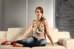 Sexy young woman Royalty Free Stock Photos