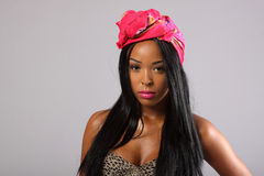 Sexy young woman. Wearing a head scarf Stock Image