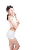 Sexy young woman body with smile face Stock Photo
