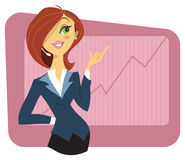 young woman in a business suit Stock Photo