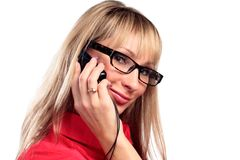 Sexy young woman caling by phone Stock Photography