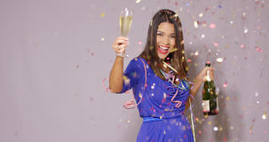 young woman celebrating New Year Royalty Free Stock Photo