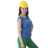 Sexy young woman construction worker contractor Stock Photos