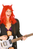 Sexy young woman with a guitar Stock Photo