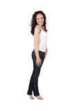young woman in jeans. Stock Photo
