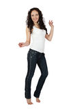 Sexy young woman in jeans. Stock Photography
