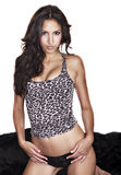 Sexy young woman in leopard print Royalty Free Stock Images