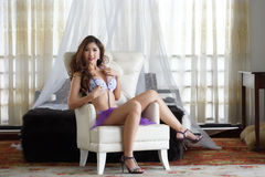 Sexy young woman in lingerie Stock Images