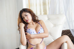 Sexy young woman in lingerie Stock Image