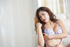 Sexy young woman in lingerie Royalty Free Stock Images