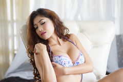 Sexy young woman in lingerie Royalty Free Stock Photos