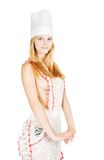 Sexy young woman maid Stock Photography