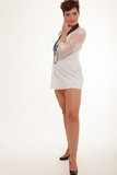Sexy young woman in a miniskirt Royalty Free Stock Image