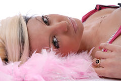 Sexy young woman in pink Royalty Free Stock Image