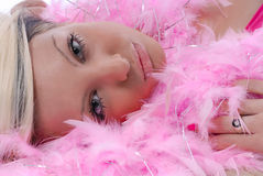 Sexy young woman in pink Royalty Free Stock Photo