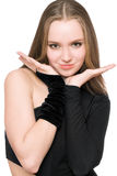 young woman posing. Isolated Royalty Free Stock Photo