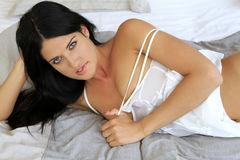 Sexy young woman. Provocative young woman in a seductive pose Stock Image