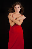 young woman in red dress. Royalty Free Stock Image