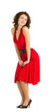 young woman in red dress Royalty Free Stock Photos