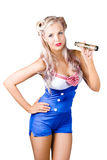 woman in sailor outfit Royalty Free Stock Photography