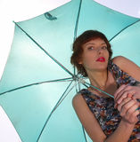 Sexy young woman with an umbrella Royalty Free Stock Photos