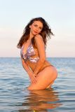 Sexy young woman in the water Royalty Free Stock Photos