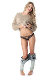 Young Woman Wearing Panties royalty free stock photos