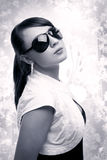 Sexy young woman wearing sunglasses Stock Photo