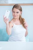Sexy young woman winking for a selfie Royalty Free Stock Photography