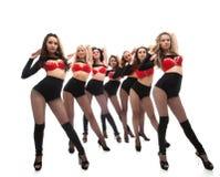 Sexy young women dancing in studio Royalty Free Stock Photo