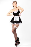Sexy young women french maid. Royalty Free Stock Images