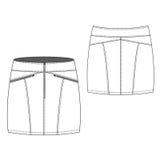 Zipped Mini Skirt vector illustration