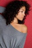 Sexy Zwart Meisje Royalty-vrije Stock Afbeeldingen