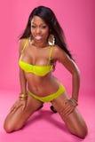 Sexy zwart meisje, Stock Afbeeldingen