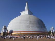 Seya de Maha do ruwanweli do anuradhapura da Buda da natureza da beleza fotos de stock