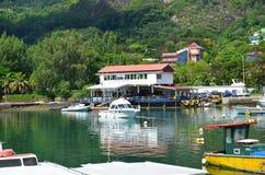 Seycelles-Yachtclub Stockfotos