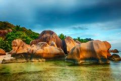 seychellen stockfotos