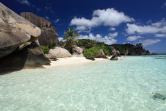 Seychellen. Het eiland van La Digue. Royalty-vrije Stock Fotografie