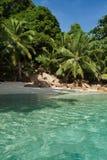 Seychellen. Het eiland van Praslin royalty-vrije stock foto's