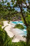 Seychellen, La Digue-Insel stockfotos