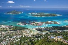 Seychellen - Mahe-eiland - Eden-eiland en Sainte Anne Marine Na Stock Afbeelding