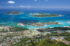 Seychellen- - Mahe-Insel - Eden-Insel und Sainte Anne Marine Na stockbild