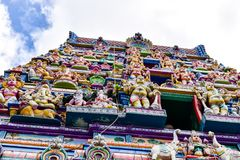 Seychellen, Mahe - 17 Juni 2016 De Tempel van Arulmihu Navasakthi Vinayagar in Victoria Royalty-vrije Stock Foto
