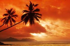 Seychellen-Meerblick Lizenzfreies Stockfoto