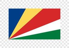 Seychellen - Nationale Vlag royalty-vrije illustratie