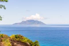 Seychellen - Schattenbild-Insel Stockbilder