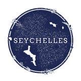 Seychellen-Vektorkarte Stockfotos